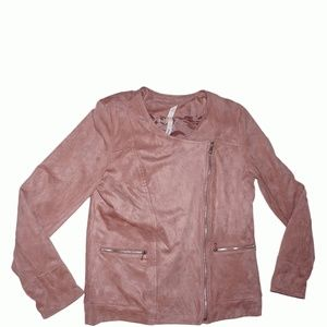 Ny Collection Faux-Suede Jacket Rose Petal Small